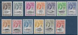 TRISTAN DA CUNHA - YVERT N° 42/54 * MLH - COTE = 130 EUR. - FAUNE ET FLORE - POISSONS - Tristan Da Cunha