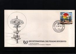 Brazil 1981 Missing Species FDC - Umweltschutz Und Klima
