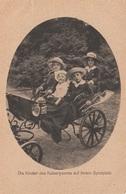 Die Kinder Des Kaiserpaares Auf Ihrem Spielplatz - Karte Des Winer Lichtbild-Kunst 1918, Karte Rechts 5 Mm Eingerissen - Königshäuser
