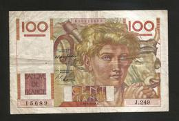 FRANCE - BANQUE De FRANCE - 100 Francs  Jeune Paysan  (E. 29 - 4 - 1948 ) Serie: J249 - 1871-1952 Antichi Franchi Circolanti Nel XX Secolo