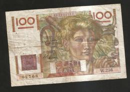 FRANCE - BANQUE De FRANCE - 100 Francs  Jeune Paysan  (F. 15 - 7 - 1948 ) Serie: W256 - 1871-1952 Antichi Franchi Circolanti Nel XX Secolo