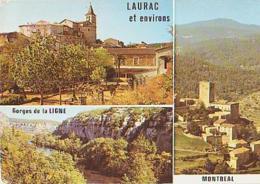 Ardèche        H181        LAURAC.Gorges De La Ligne.Montréal ( 3 Vues ) - Sonstige Gemeinden