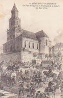 Ardennes        50        Beaumont En Argonne.La Place De L'église Au Lendemain De La Bataille ( 31 Août 1870 ) - Andere Gemeenten