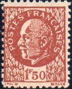 """2e GUERRE- Faux """"Pétain"""" 1,50F Brun Foncé - Guerre Mondiale (Seconde)"""