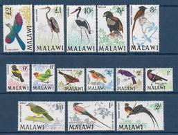MALAWI - YVERT N° 92/105 ** MNH - COTE = 135 EUR. - FAUNE ET FLORE - OISEAUX - Malawi (1964-...)
