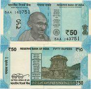 INDIA       50 Rupees       P-111       2017       UNC  [ Sign. Patel - Letter L ] - India