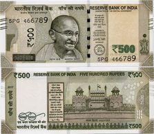 INDIA       500 Rupees       P-114       2017       UNC  [ Sign. Patel - Letter L ] - India