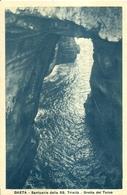 "1438 "" GAETA - SANTUARIO SS. TRINITA'-GROTTA DEL TURCO"" CART. POST. ORIG. NON SPEDITA - Italy"
