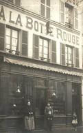 CARTE PHOTO MAGASIN DE CHAUSSURE A LA BOTTE ROUGE - France