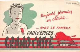 VP-GF.18-620 : BUVARD. PAIN D'EPICES GRAND CASSE. BROCHET FRERES BESANCON. DOUBS. - Blotters