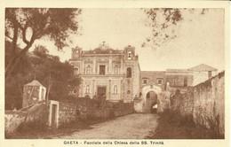 """1442 """" GAETA - FACCIATA DELLA CHIESA SS. TRINITA' """" CART. POST. ORIG. NON SPEDITA - Italy"""