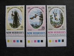 Nouvelles-Hébrides: TB Série N° 289 Au N° 291, Neufs XX. - English Legend