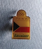 PIN'S ESPAGNE ESPANA JEUX OLYMPIQUES BARCELONE BARCELONA SPAIN  1992 - Other