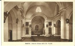 """1445 """" GAETA - INTERNO CHIESA DELLA SS. TRINITA'  """" CART. POST. ORIG. NON SPEDITA - Italy"""