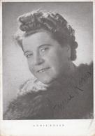 ANNIE ROSAR - Fotokarte Mit Orig.Autogramm, Karte Rückseitig Mit Klebespuren Vom Album; > Annie Rosar (* 17. Mai 1888 .. - Autogramme & Autographen