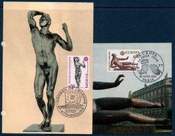 CM 1974 Europa  N° YT 1789-1790 - Cartes-Maximum
