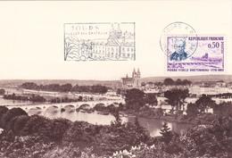 Carte-Maximum FRANCE N° Yvert 1328 (BRETONNEAU - TOURS) Obl Sp FLAMME Ill 1er Jour (Ed CIM) - 1960-69