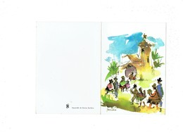 Double Cpm - G F Guides De France Scouts Scoutisme -  Illustration Bertière Denise Aquarelle - - Scoutisme