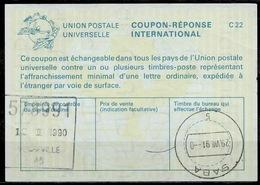 SABA ( Caribbean Netherlands ) As Redemption Postmark On International Reply Coupon Reponse Antwortschein IAS IRC CANADA - Antillas Holandesas