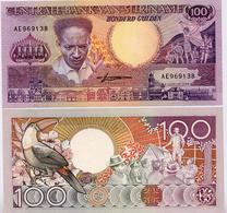 SURINAME       100 Gulden       P-133b       9.1.1988       UNC - Suriname