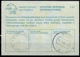 SABA  Caribbean Netherlands As Redemption Postmark On International Reply Coupon Reponse Antwortschein IAS IRC FINLAND - Antillen
