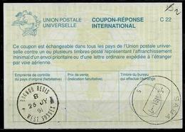 SABA ( Caribbean Netherlands ) As Redemption Postmark On Int.  Reply Coupon Reponse Antwortschein IAS IRC GREAT BRITAIN - Antillen