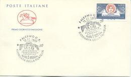 ITALIA - FDC  CAVALLINO  1993 -  GIORNATA DELLA FILATELIA - ANNULLO MARCOFILO PALERMO - 6. 1946-.. Repubblica