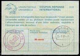SABA ( Caribbean Netherlands ) As Redemption Postmark On International Reply Coupon Reponse Antwortschein IAS IRC USA 2 - Antillen