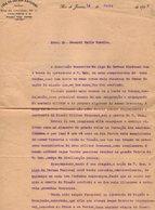 VP13.084 - Brésil - Liga Da Defesa National RIO DE JANEIRO 1919 - Lettre De Mr B. HOMIRA  Pour Mr Le Général GAMELIN - Documents