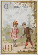 L.Pacon/Alphabet Lettre Q : Quilles, 1 Garçonnet Et 1 Fillette   7.20 X10.50 Cm - Poulain