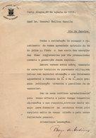 VP13.085 - Brésil - Gabinete Do Presidente à PORTO ALEGRA 1919 - Lettre De Mr BORGES DE MEDEIROS Pour Mr Le Gal. GAMELIN - Documents