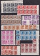 1955-60 Italia Italy Repubblica SIRACUSANA FILIGRANA STELLE 1c, 10c, 20c, 25c, 30c, 40c, 60c, 80c, 90c MNH** (x 10) - 6. 1946-.. Republic