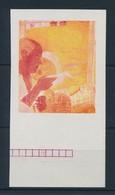 (*) 1967 Festmények III. 2.50Ft Vágott  ívszéli Bélyeg Fázisnyomata Kék, Arany és Fekete Színnyomat Nélkül. A Szakirodal - Stamps