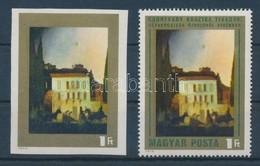 ** 1973 Csontváry 1Ft Vágott, Zöld Színnyomat Nélkül / Mi 2880 Imperforate, Colour Green Omitted. Certificate: Glatz - Stamps