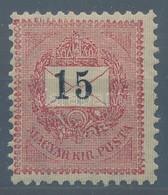 ** 1899 15kr Néhány Apró Gumirepedéssel, így Is Kifogástalan Darab (120.000) RRR! - Stamps