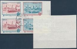 O 1972 Polgármesteri Ajándék Sor 1 Ft és 3 Ft Négyestömbjei Bélyegezve (~90.000) (ráncok / Creases) - Stamps