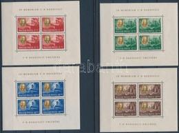 ** 1947 Roosevelt Kisív Sor Egyenes Képállással (90.000) (apró, ívszéli Hibák / Minor Faults On Margins) - Stamps