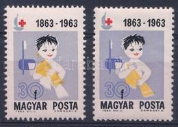 ** 1963 Vöröskereszt 30f, Eltolódott Sárga Színnyomat / Mi 1944, Shifted Yellow Colour - Stamps