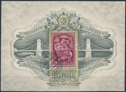 O 1949 Lánchíd (III.) Blokk Fekvő Vízjellel - Stamps
