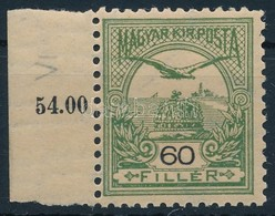 ** 1900 Turul 60f ívszéli Bélyeg Számvízjellel (60.000+) - Stamps