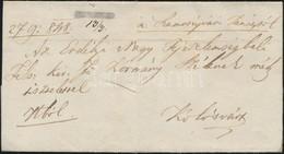 1848 Ex Offo Negatív / Negative 'SZAMOS UJVAR' Kézi Dátummal (Gudlin R!!) - Kolozsvár - Stamps