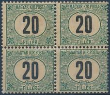 ** 1903 Zöldportó 20f Négyestömb (52.000++) - Stamps