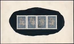 ~1942 Konecsni György Kiadatlan Repülő Alap Bélyegterveinek Nyomdai Fotói, Bemutatás Céljából Készült Minta. Egyedi Dara - Stamps