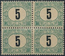 ** 1903 Zöldportó 5f Négyestömb (40.000++) - Stamps