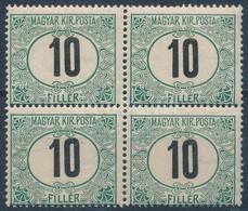 ** 1905 Zöldportó 10f ,,B' Négyestömb (40.000++) - Stamps