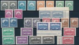 ** 1926 2 Db Pengő-fillér I. Szinte Komplett A Sor, 4f Hiányzik (49.400) (ráncok / Creases) - Stamps