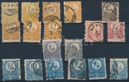 O 1871 Réznyomat összeállítás, 18 Db Bélyeg, Színárnyalatok (~40.000) - Stamps