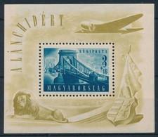 ** 1948 Lánchíd II Blokk (30.000) (ráncok / Creases) - Stamps