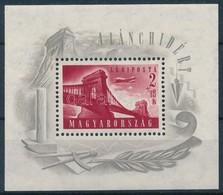 ** 1948 Lánchíd I. Blokk (30.000) (enyhe Törés / Light Fold) - Stamps