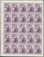 ** 1953 Bélyegnap 2Ft Teljes ív (20.000) - Stamps